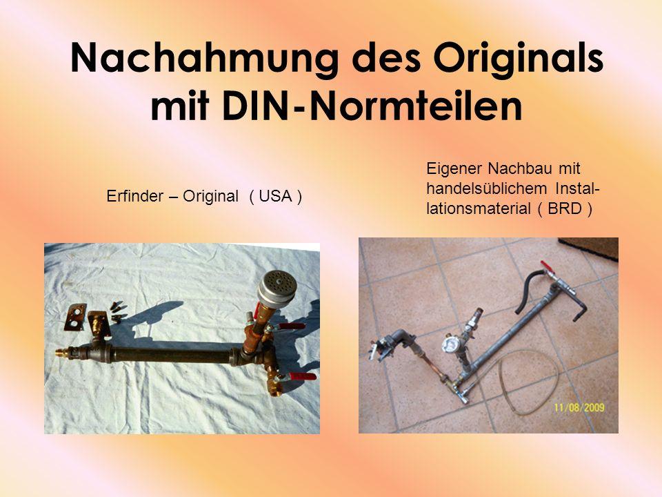 Nachahmung des Originals mit DIN-Normteilen