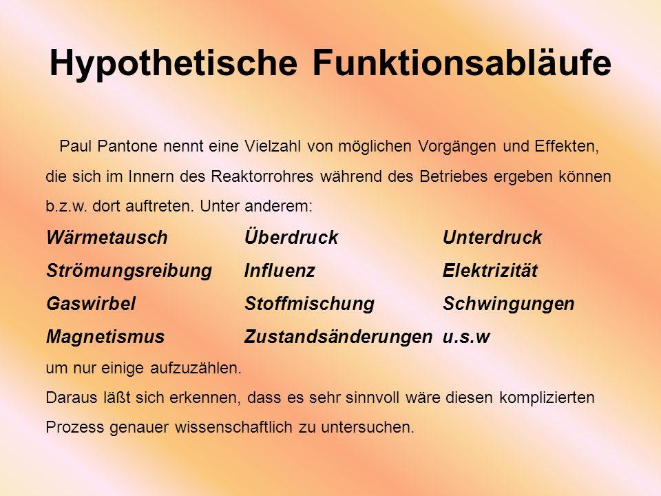 Hypothetische Funktionsabläufe