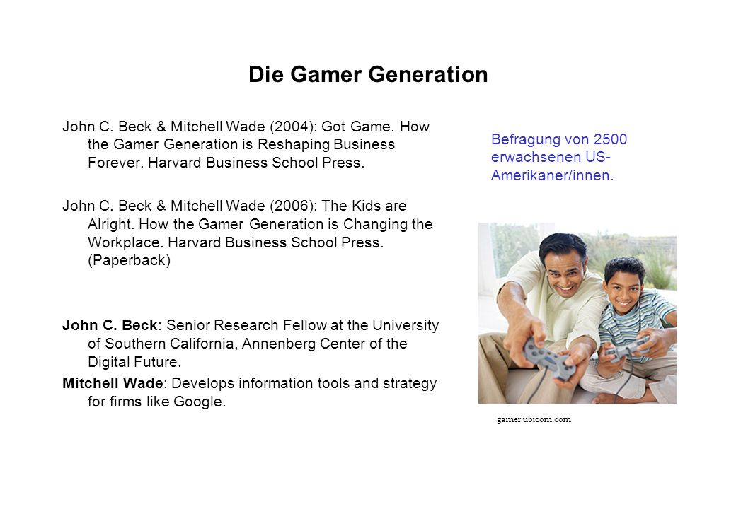 Die Gamer Generation