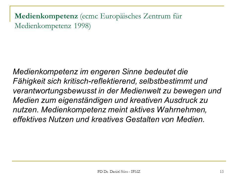 Medienkompetenz (ecmc Europäisches Zentrum für Medienkompetenz 1998)