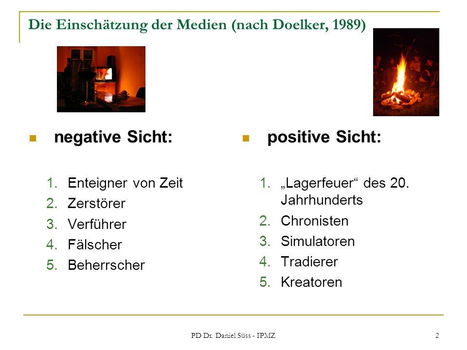 Die Einschätzung der Medien (nach Doelker, 1989)