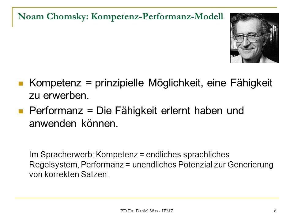 Noam Chomsky: Kompetenz-Performanz-Modell