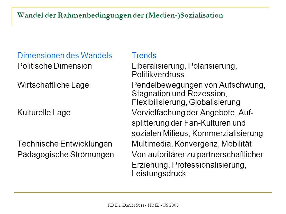 Wandel der Rahmenbedingungen der (Medien-)Sozialisation