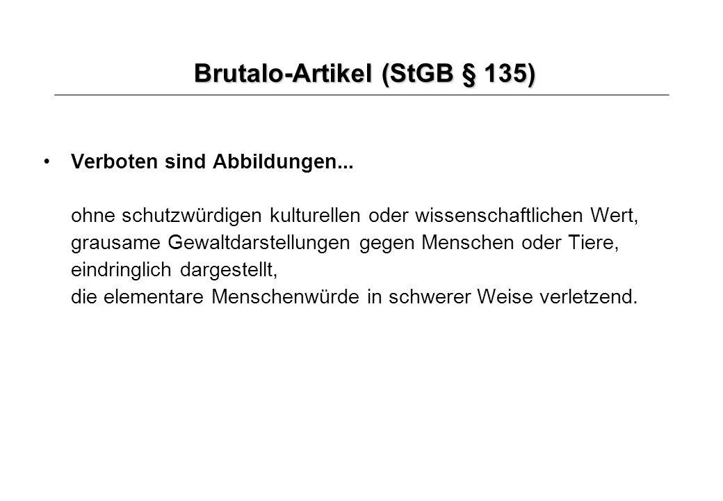 Brutalo-Artikel (StGB § 135)