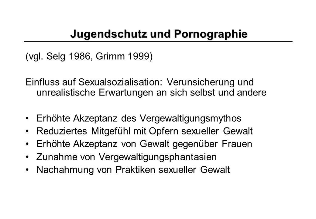 Jugendschutz und Pornographie