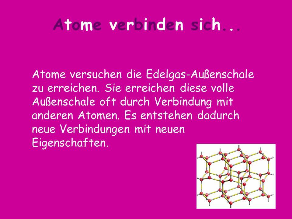 Atome verbinden sich...