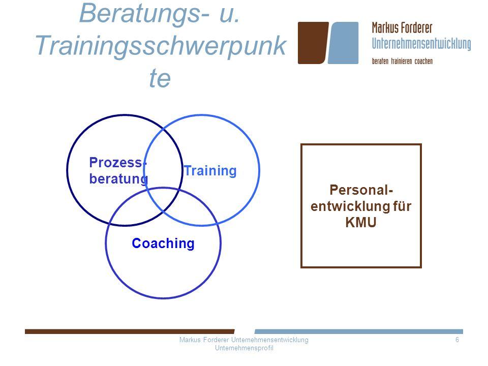 Beratungs- u. Trainingsschwerpunkte
