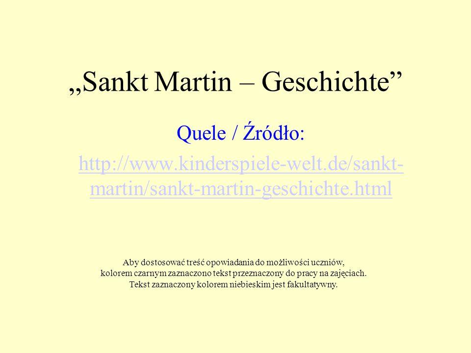 """""""Sankt Martin – Geschichte"""