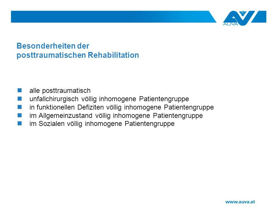 Besonderheiten der posttraumatischen Rehabilitation