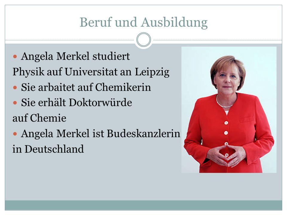 Beruf und Ausbildung Angela Merkel studiert