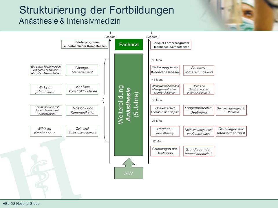 Strukturierung der Fortbildungen Anästhesie & Intensivmedizin