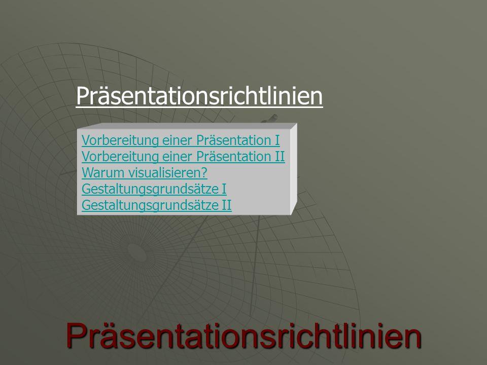 Präsentationsrichtlinien
