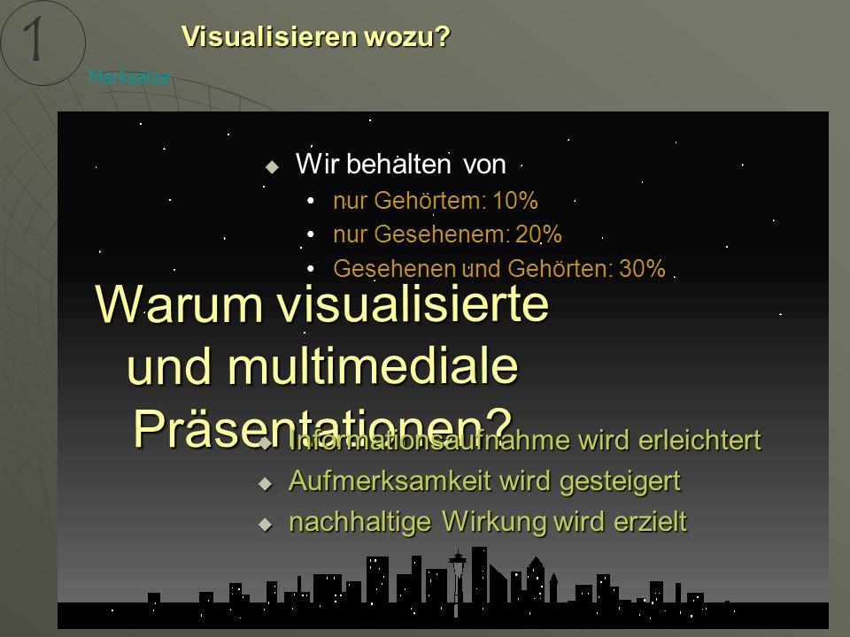 Warum visualisierte und multimediale Präsentationen