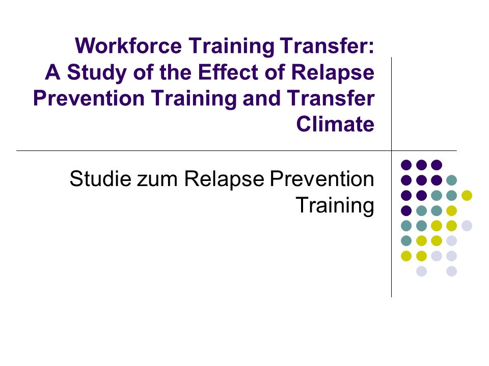Studie zum Relapse Prevention Training
