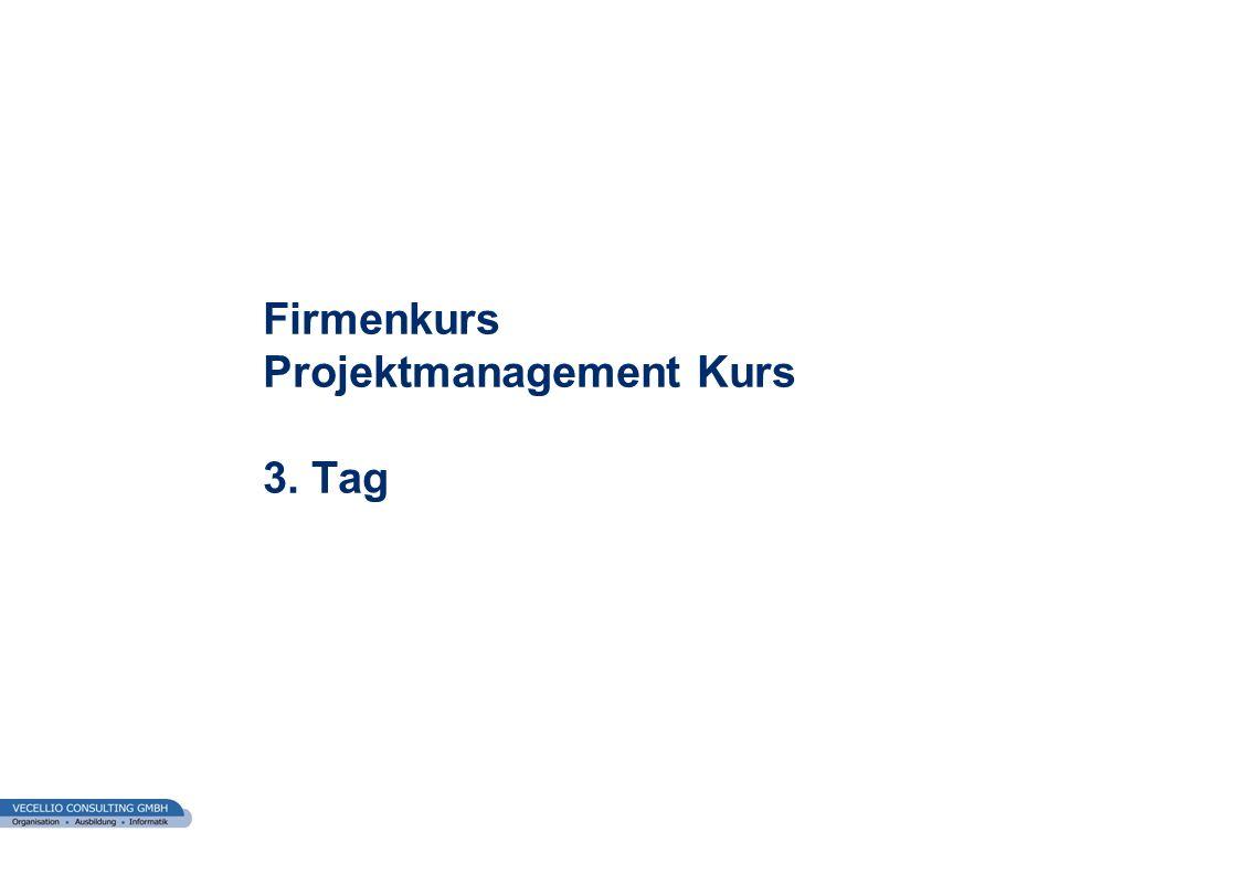 Firmenkurs Projektmanagement Kurs 3. Tag