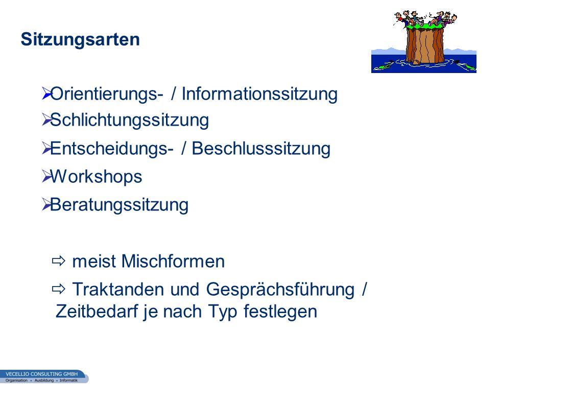 Orientierungs- / Informationssitzung Schlichtungssitzung