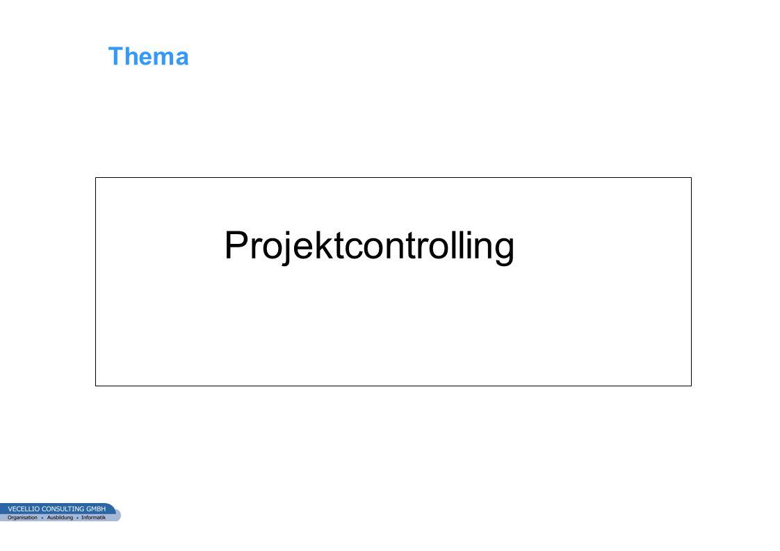 Thema Projektcontrolling