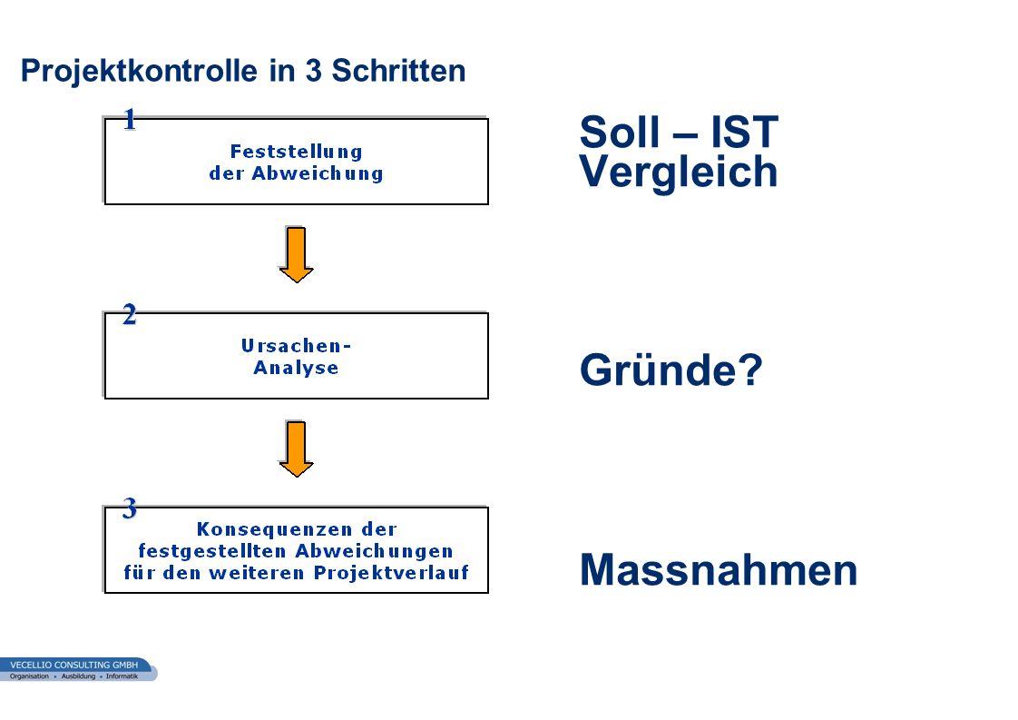 Projektkontrolle in 3 Schritten