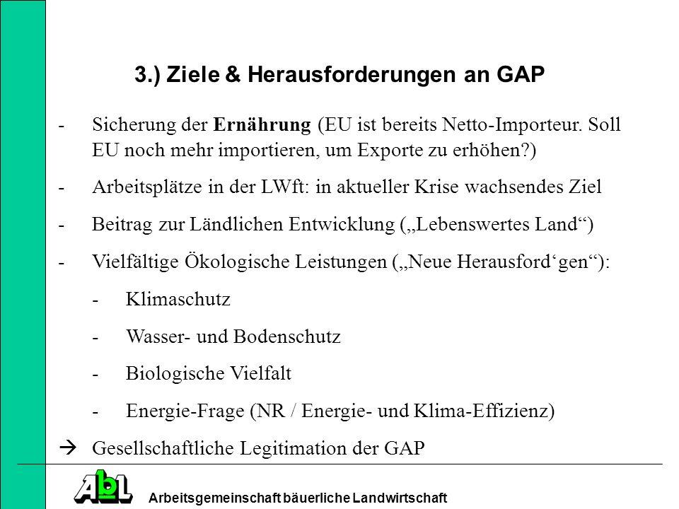3.) Ziele & Herausforderungen an GAP