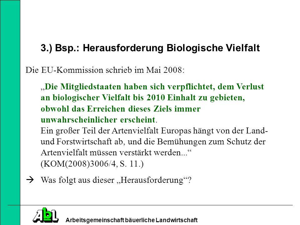 3.) Bsp.: Herausforderung Biologische Vielfalt