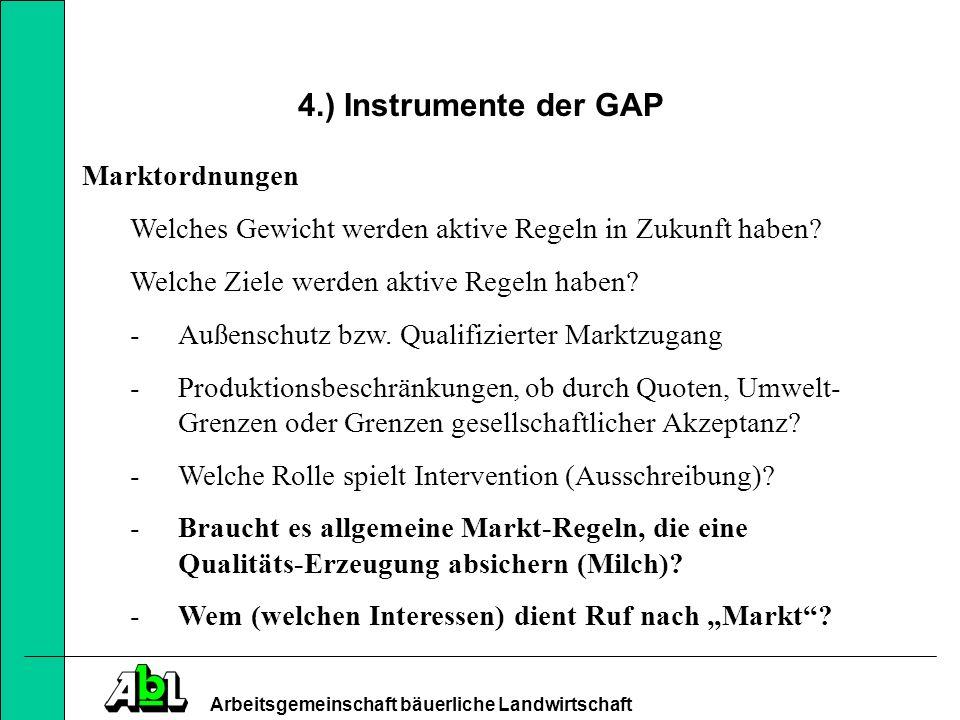 4.) Instrumente der GAP Marktordnungen