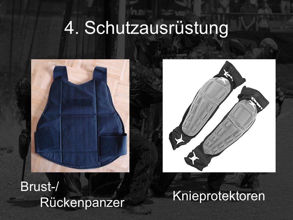4. Schutzausrüstung Brust-/ Rückenpanzer Knieprotektoren