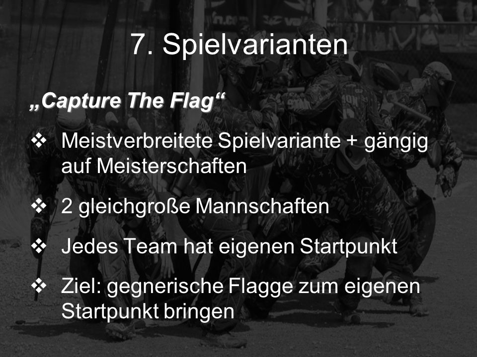 "7. Spielvarianten ""Capture The Flag"
