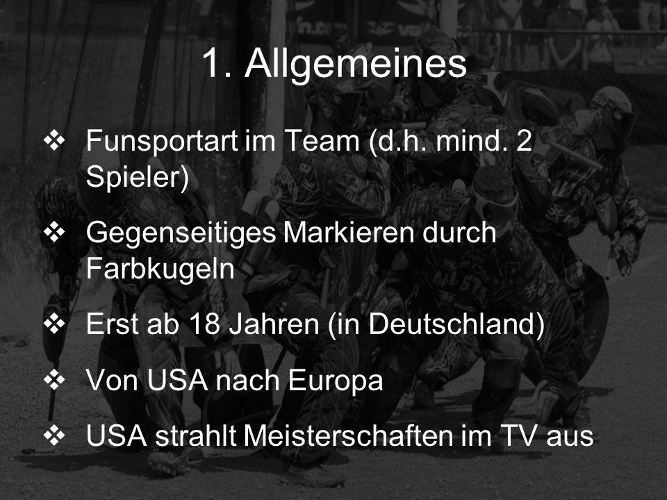 1. Allgemeines Funsportart im Team (d.h. mind. 2 Spieler)
