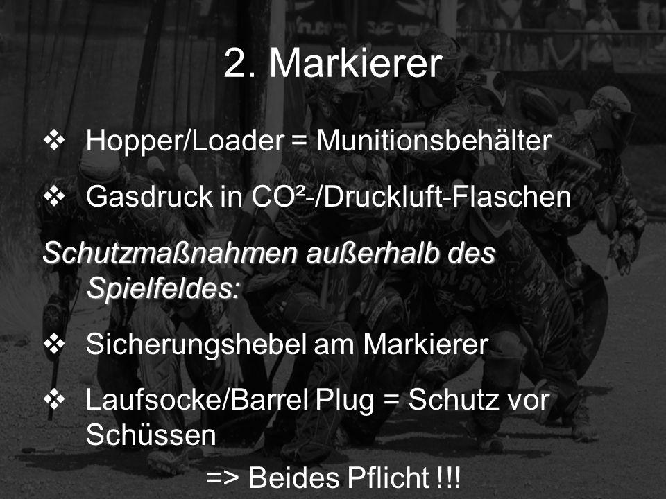 2. Markierer Hopper/Loader = Munitionsbehälter