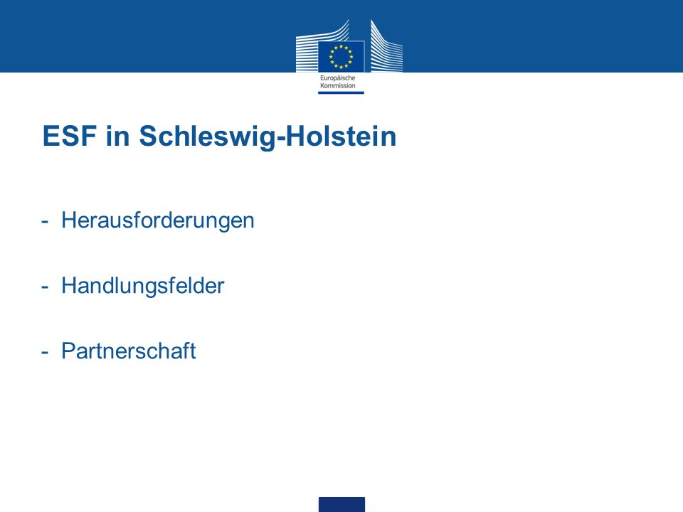 ESF in Schleswig-Holstein