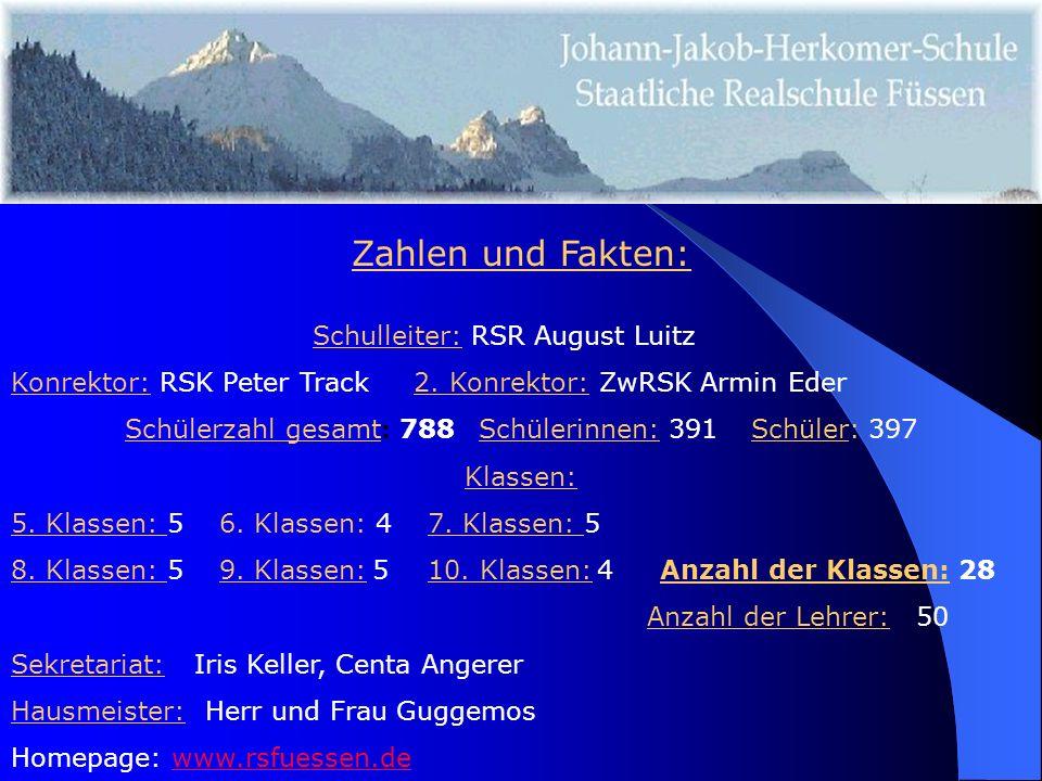 Zahlen und Fakten: Schulleiter: RSR August Luitz