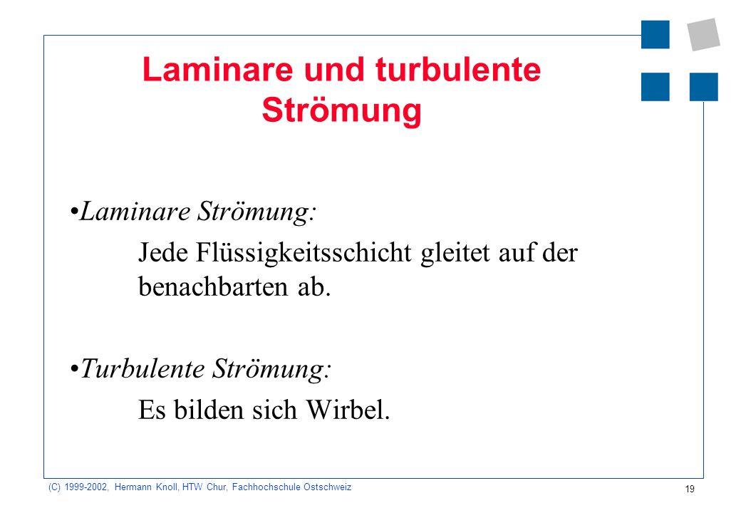 Laminare und turbulente Strömung