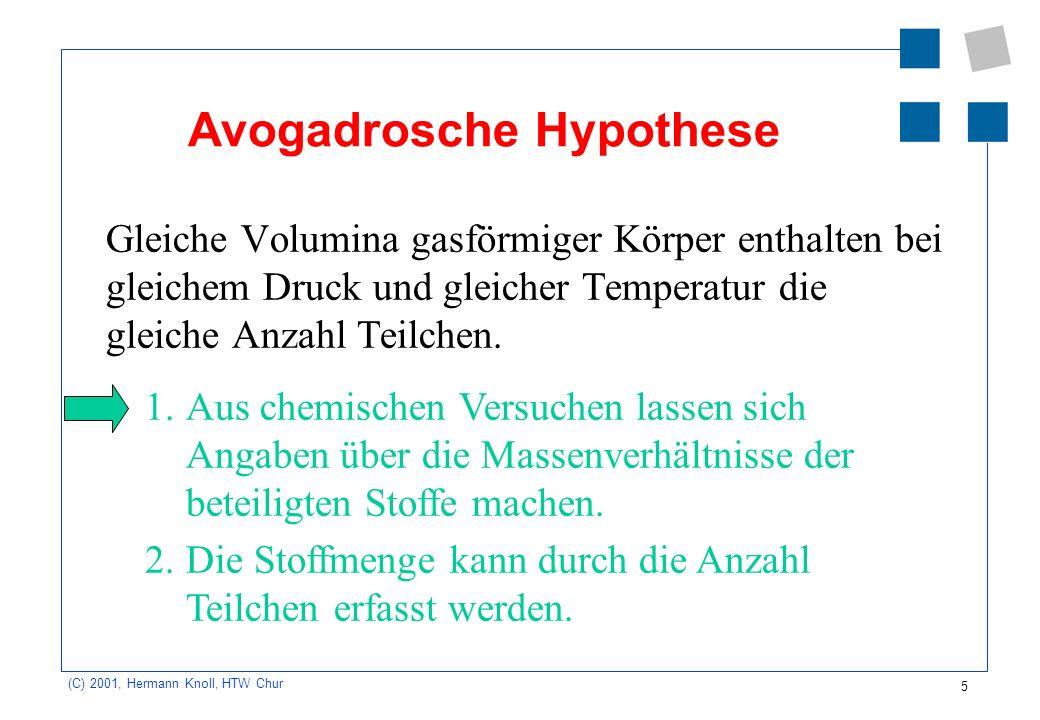 Avogadrosche Hypothese