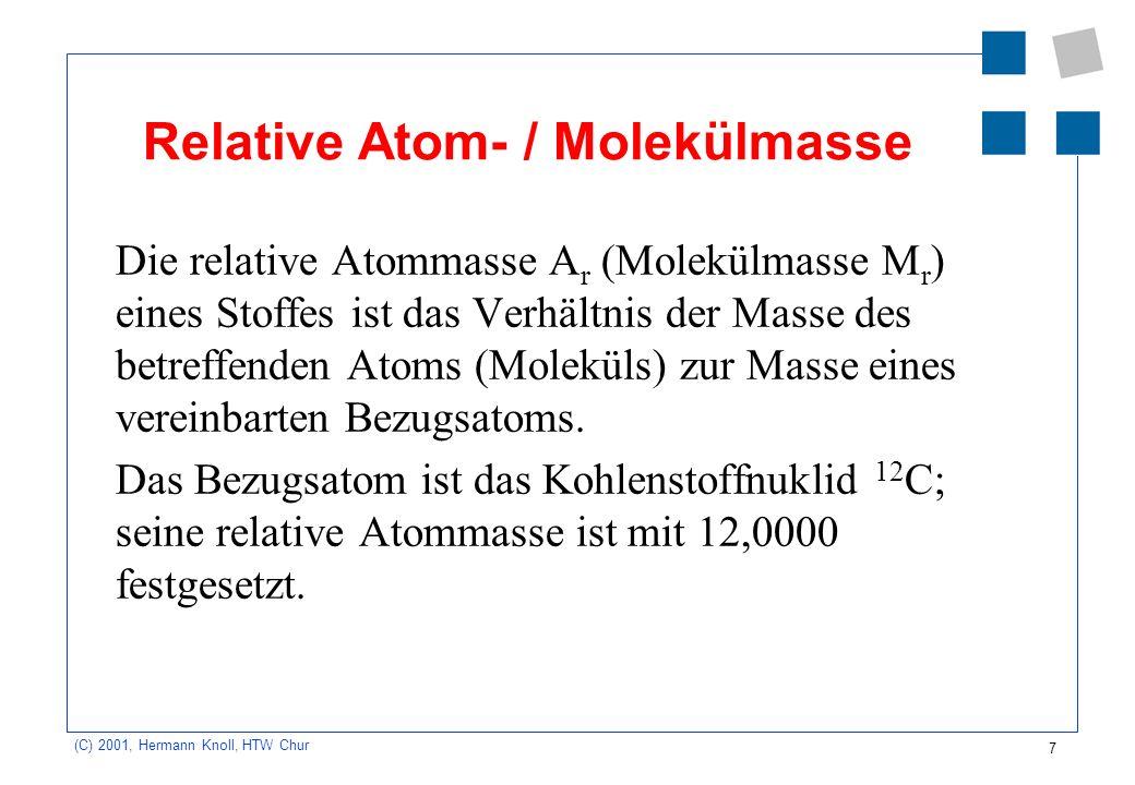 Relative Atom- / Molekülmasse