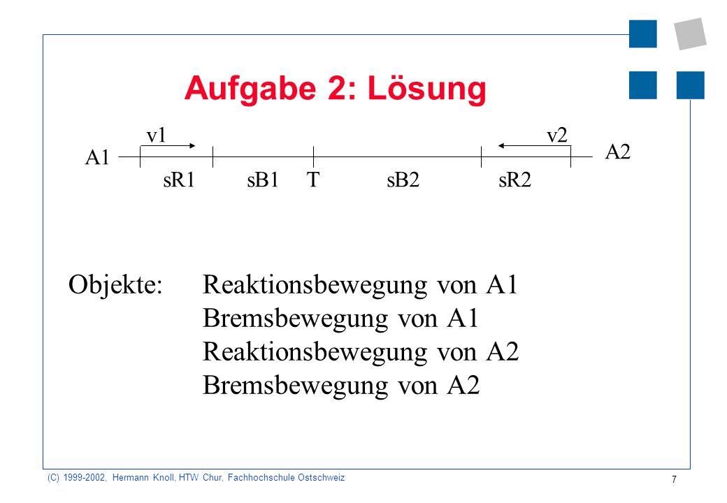 Aufgabe 2: Lösung v1. v2. A2. A1. sR1. sB1. T. sB2. sR2.