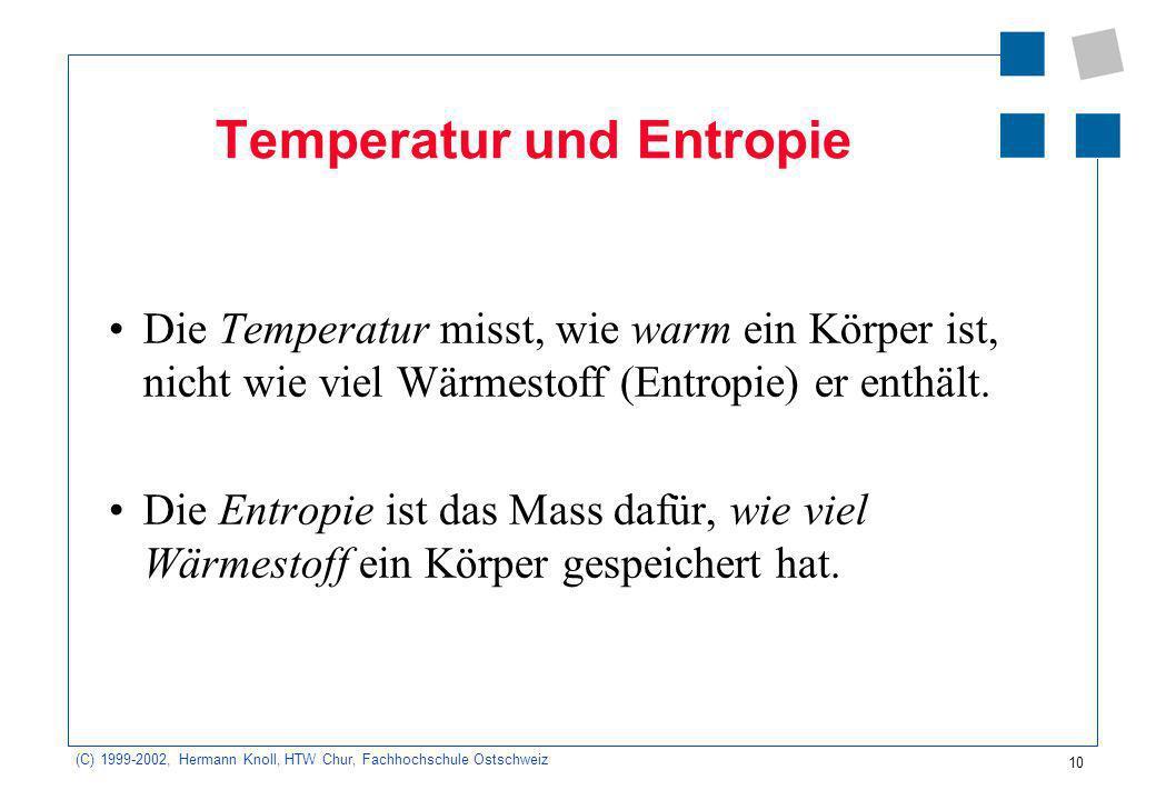 Temperatur und Entropie