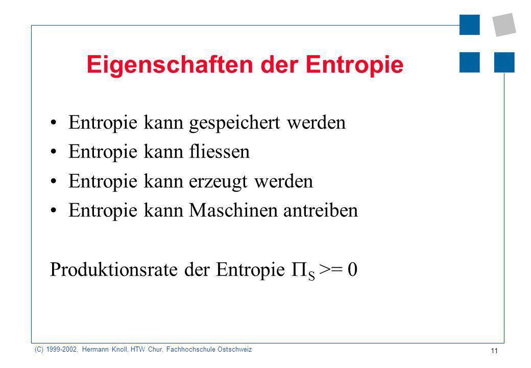 Eigenschaften der Entropie