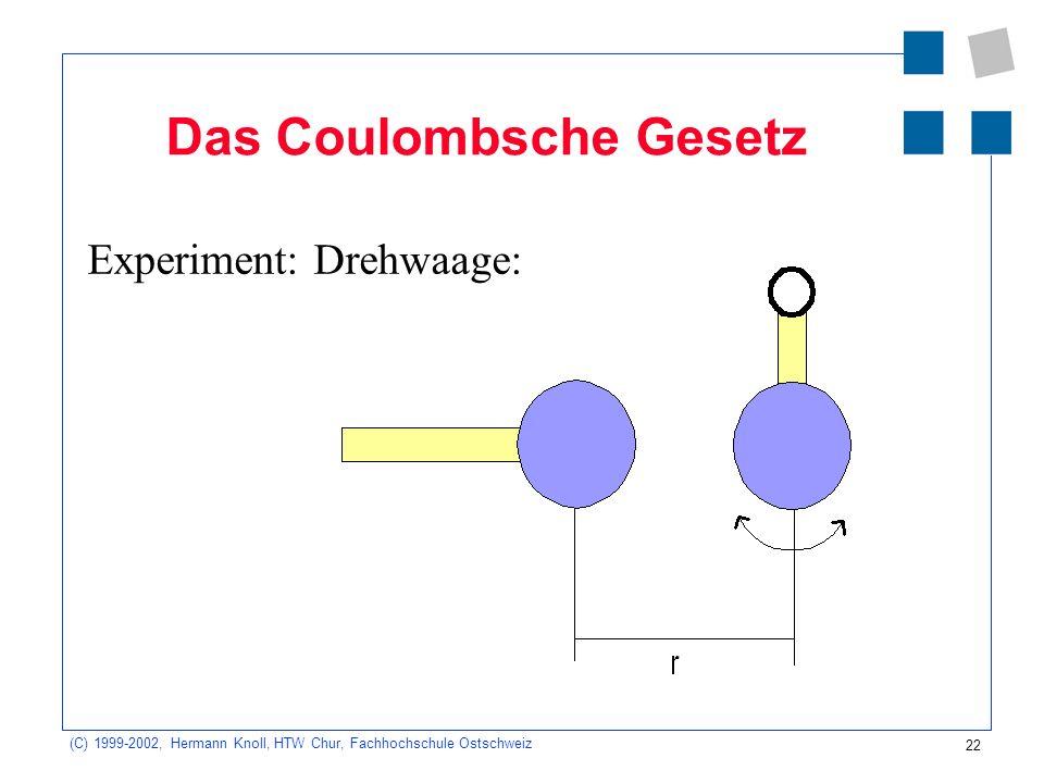 Das Coulombsche Gesetz