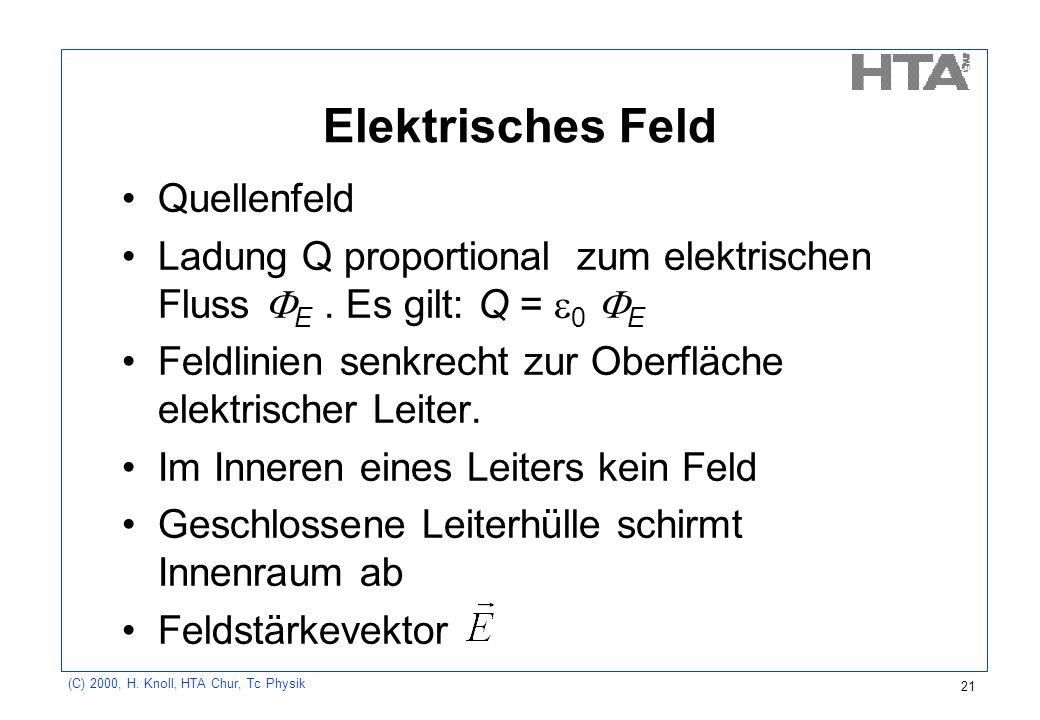 Elektrisches Feld Quellenfeld