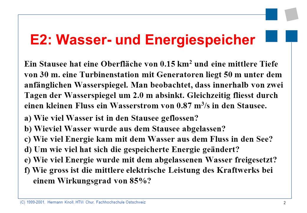 E2: Wasser- und Energiespeicher
