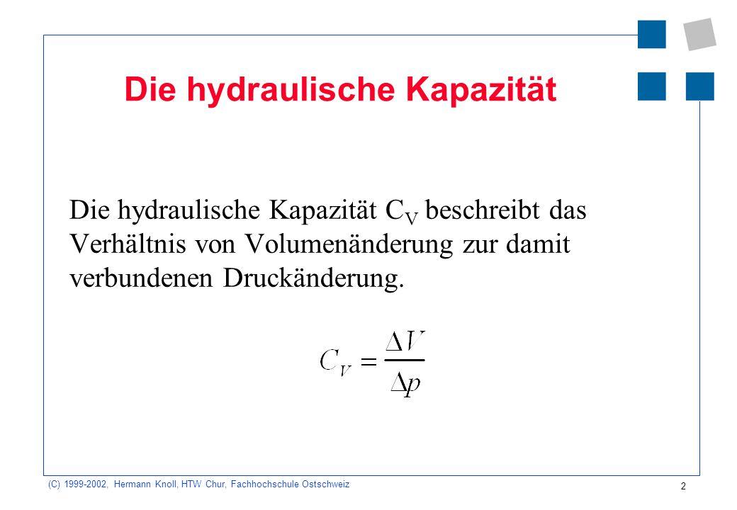 Die hydraulische Kapazität