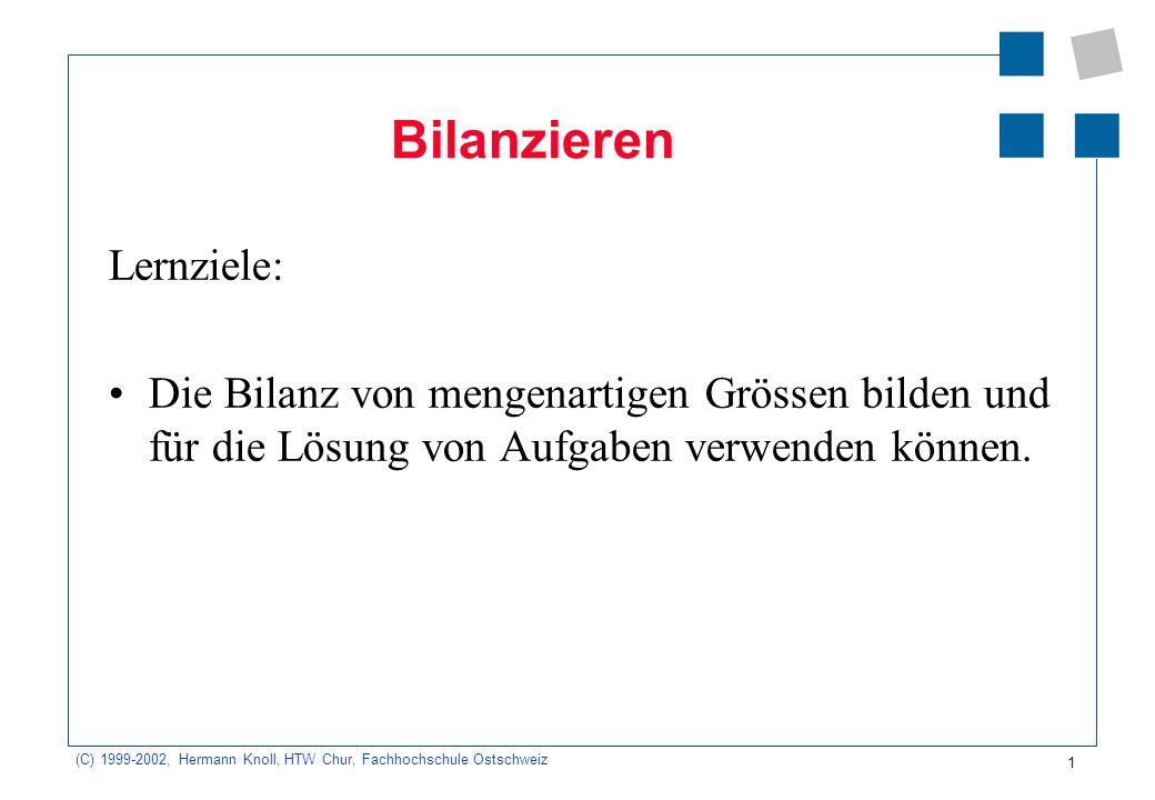 Bilanzieren Lernziele: