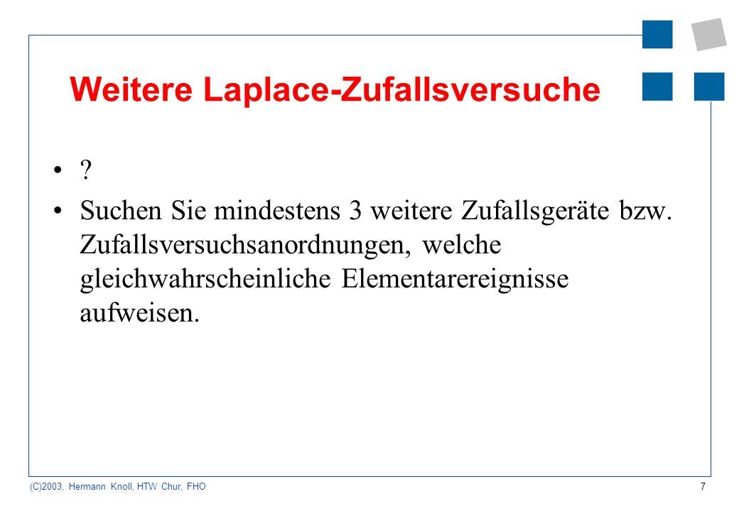 Weitere Laplace-Zufallsversuche