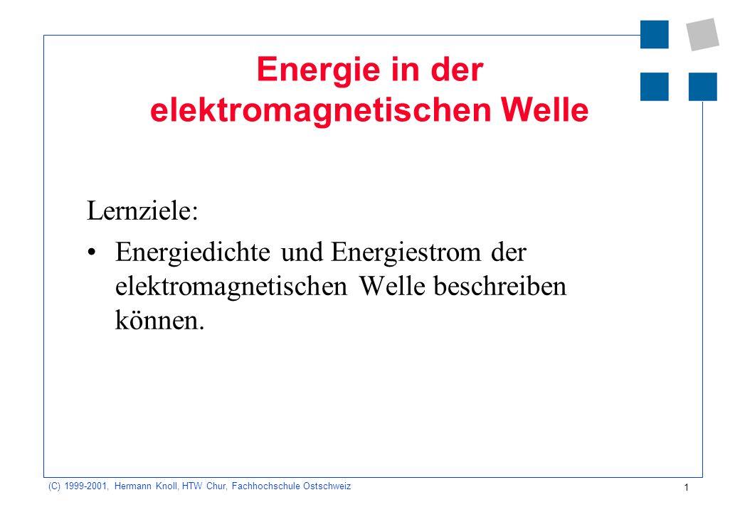 Energie in der elektromagnetischen Welle