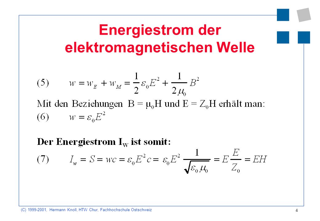 Energiestrom der elektromagnetischen Welle