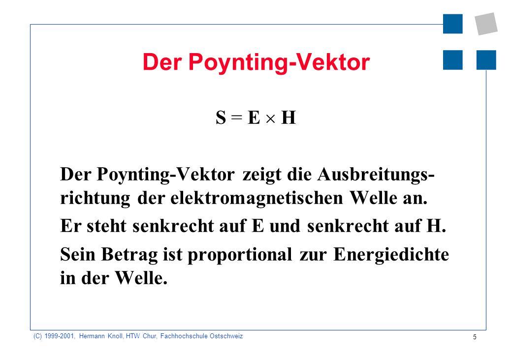 Der Poynting-Vektor S = E  H