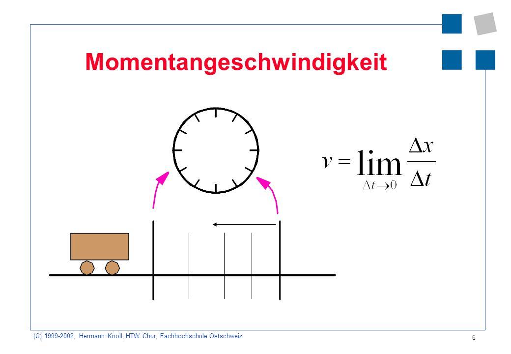 Momentangeschwindigkeit