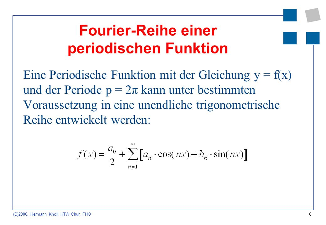 Fourier-Reihe einer periodischen Funktion