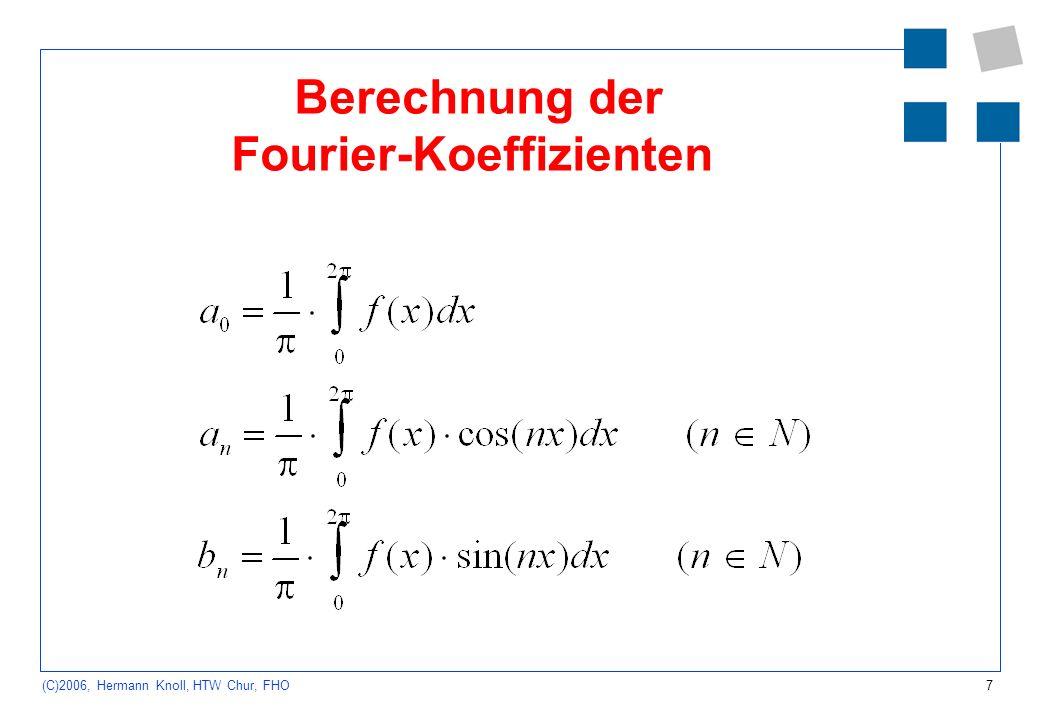 Berechnung der Fourier-Koeffizienten