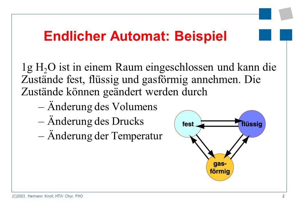 Endlicher Automat: Beispiel